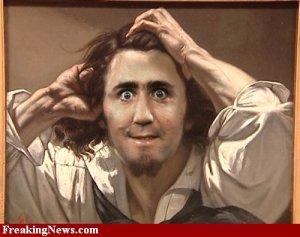 Andy Kaufman no auto-retrato de Courbet